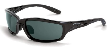 12 Pack Crossfire 241 Infinity Safety Glasses Smoke Lens - Black Crystal Frame by Crossfire
