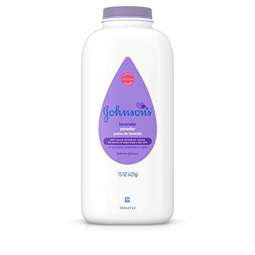 Johnson's Lavender Baby Powder with Naturally Derived Cornstarch, Hypoallergenic and Paraben Free, 15 oz
