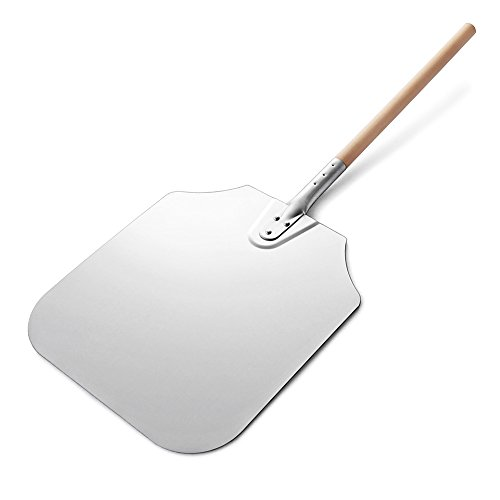 Pizza Aluminum Peel (New Star Foodservice 50196 Aluminum Pizza Peel, Wooden Handle, 16 x 18 inch Blade, 36 inch overall)