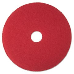 "-- Buffer Floor Pad 5100, 17"", Red, 5 Pads/Carton"
