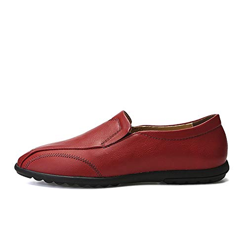 Rosso uomo Scarpe pedale Uomo Business Light Dimensione Lofer 41 Xiaojuan Soft traspirante Rosso Casual da Leather un Pelle con Oxford EU shoes Color fq6IU6S