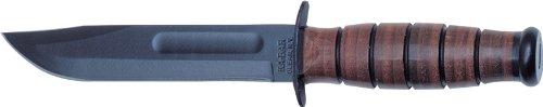 KA-BAR Short Kabar US Marine Corp Knife, Straight, Leather Sheath, Outdoor Stuffs