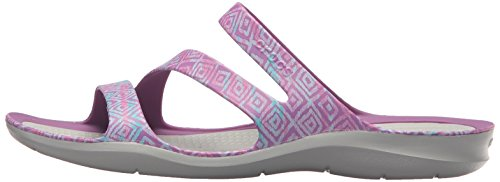 Crocs Soft Amethyst Grey Graphic Lightweight Ladies Swiftwater Womens Sandals TrwfqTBZn
