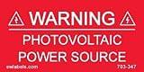 SW Labels Solar Warning Label 703-347 - 10 Pack