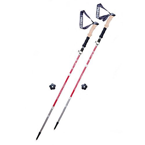 Tri-Fold Carbon Cork Trekking Poles / Sticks - 100 to 120 cm - Folding, Collapsible, Adjustable, and Ultralight - Perfect for Hiking, Walking, Backpacking and Snowshoeing