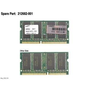 Compaq Genuine 128MB 133Mhz SDRAM Memory Module Evo N180 N400c N410c N600c N610c N110 T20 Aramda 110 Thin Client T1000 T1010 T1500 T1510 T20 - Refurbished - 163612-001