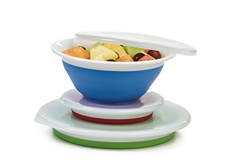 (Progressive Prepworks Thinstore Collapsible Prep/Storage Bowls with Lids - Set of 3)