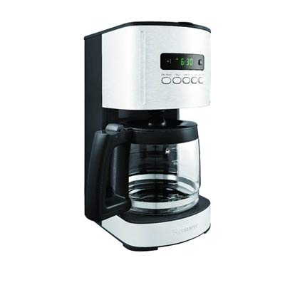 Kenmore Black 12 Cup Programmable Coffee Maker, Stainless/Black