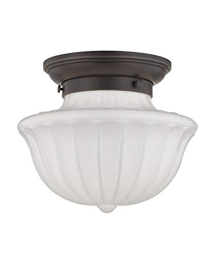 """Hudson Valley Lighting 5009F-OB One Light Flush Mount from The Dutchess Collection, 9"""", Old Bronze"""