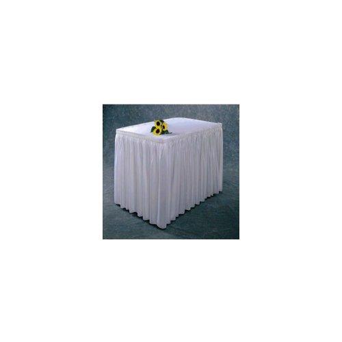 Snap Drape #100-I WHT Wyndham Shirred Pleat 17.5 Ft. Table Skirt ()