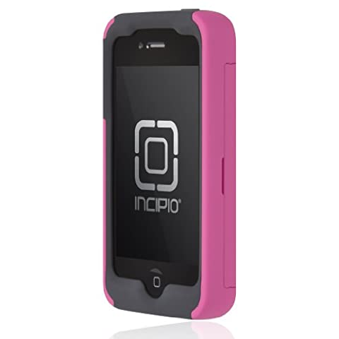 Incipio IPH-675 Stowaway Credit Card Case for iPhone 4/4S - Retail Packaging - Pink/Gray (Iphone 4 Stowaway Case)