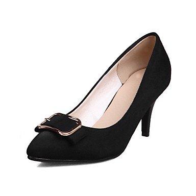 Le donne sexy elegante sandali donna tacchi Primavera Estate Autunno Inverno scarpe Club vello Office & Carriera Abito casual Stiletto Heel Bowknot fibbia Nero Blu Rosso , blu , us5.5 / EU36 / uk3.5 /