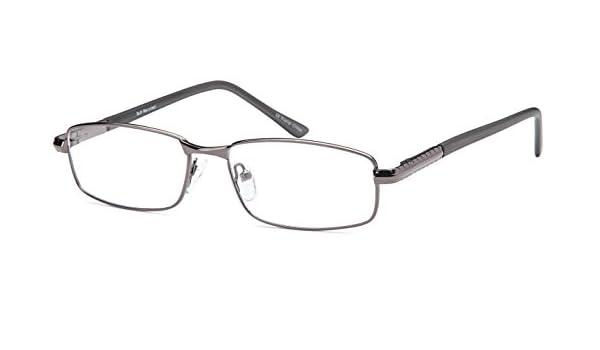 a82e0fcc826 Amazon.com  DALIX Mens Prescription Eyeglasses Frames 53-18-140-31 RXable  in Gunmetal  Clothing