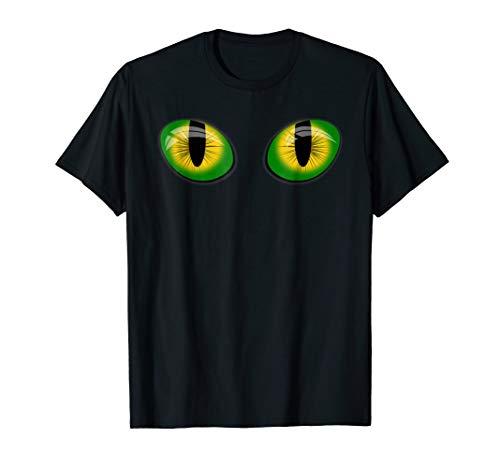 Cat Eyes Funny Halloween Costume Meme Holiday Tee