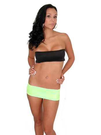 f71c3cd71a0 Image Unavailable. Image not available for. Color  Hot Line Sexy Dancer  Short 4 Inch Green Mini Skirt ...