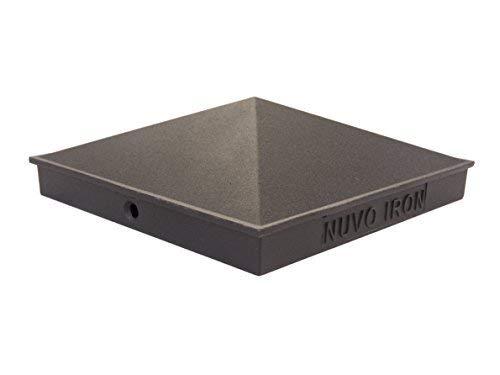 """Nuvo Iron Decorative Pyramid Aluminium Post Cap for 5.5"""" x 5.5"""" Posts - Black"""
