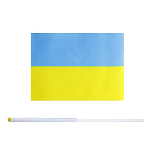 (50 Pack Hand Held Small Mini Flag Ukraine Flag Ukrainians Flag Stick Flag Round Top National Country Flags,Party Decorations Supplies For Parades,World Cup,Sports Events,International Festival)