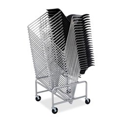 Safco Products 4190SL Sled Base Stack Chair Cart for use wit