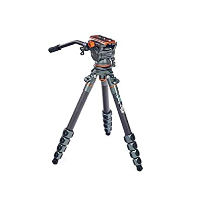 Image of Complete Tripods 3 Legged Thing Legends Jay Carbon Fibre Travel Leveling Base Tripod with AirHed Cine and Standard Video Plate