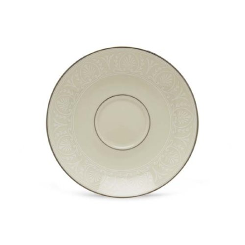 Lenox Courtyard Platinum Ivory China Saucer