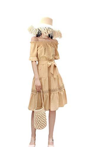 원피스 귀엽고 실크 면화, 여성 원피스 · 튜닉 오후 쇼루 드레스 우아한 원피스 여성 A 라인