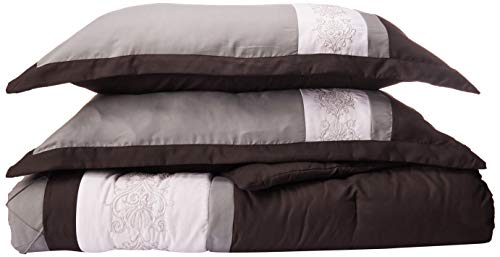 Chic Home 8-Piece Embroidery Comforter Set, King, Livingston Black