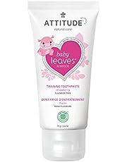 ATTITUDE Baby & Child Fluoride-Free Training Toothpaste, Natural, EWG Top Scoring, Strawberry, 75 Gram