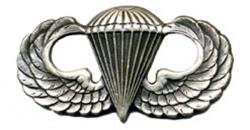 Army Basic Combat Parachutist Badge 1st Award Oxidized Finish - Regulation