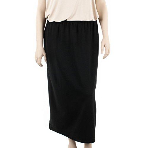 L au Femme Taille Longue Stretch Noir Jupe SOPHIA CURVY Grande 4XL Noire Casual du wnvqPg6W0