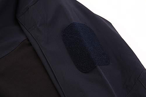KEFITEVD T-shirt tactique pour homme avec fermeture éclair 1/4 - Avec poches sur les manches - Fermeture Velcro - Pour… 4