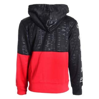 50cba5655fbf Jordan Nike AIr Graphic Hoodie Unisex Boys Girls Black Red White Size L XL  12 13-15 Years (L)  Amazon.co.uk  Clothing