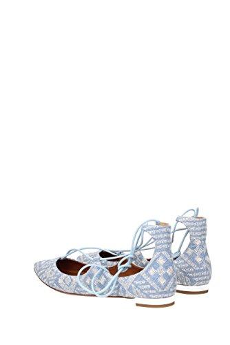 Celeste Tessuto Ballerine CHRFLAR0EMJ AQUAZZURA Flat Christy EU Donna Embroidery vT6q8cX