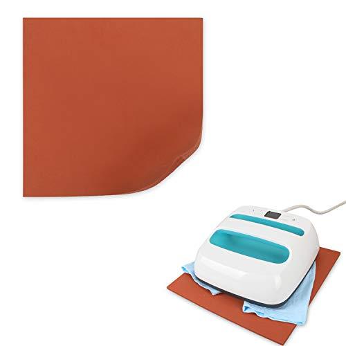 Luxja 12 x 12 Silicone Pad Compatible with Cricut Easy Press, Heat Press Mat Compatible with Cricut Easy Press, Red