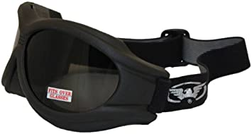 Bobster Bugeye Smoke Lens Goggle Motor Cycle Classic Touring Goggles BA001