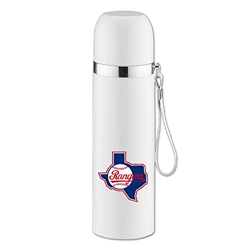 Caryonom Texas Ranger Baseball Insulated Water Bottle Travel Mug Vacuum Cup For Office Home Outdoor Adult Kids - Texas Rangers Water Bottle