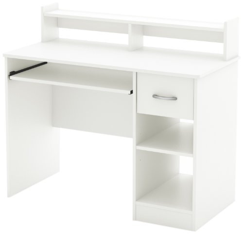 South Shore Axess Desk with Keyboard Tray, White by South Shore
