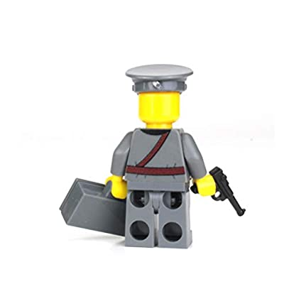 Battle Brick Wehrmacht Officer German WW2 (SKU62) Custom Minifigure: Toys & Games
