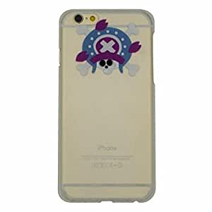 HJZ Skull Series of Turban Pattern PC Hard Transparent Back Cover Case for iPhone 6 Plus