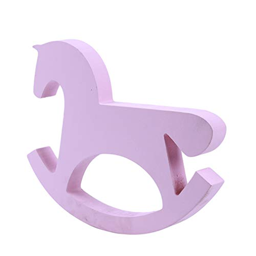 Sevenfly Wooden Small Rocking Horse Balance Home Decor Children Toy Ornaments Hand Carved ()