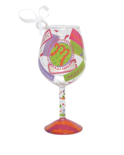 Lolita Hand Painted Mini Wine Ornament, Letter M