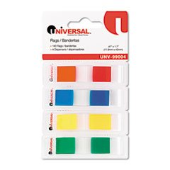 - (6 Pack Value Bundle) UNV99004 Page Flags, Assorted Colors, 35 Flags/Dispenser, 4 Dispensers/Pack
