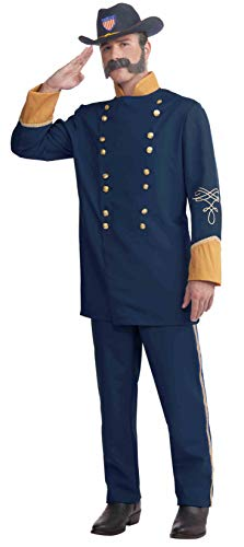 Forum Novelties Plus-Size Extra Large Union Officer Costume, Blue, X-Large/XX-Large