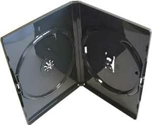 Amaray - 10 x Estuches Dobles Negros de Repuesto para DVDs: Amazon.es: Informática