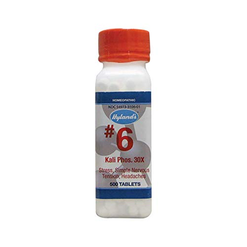 #6 Kali Phos. 30X Cell Salts 500 Tabs