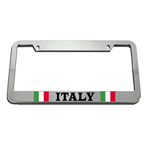 Speedy Pros Italy Italian Italiano Flag Country License Plate Frame Tag Holder by Speedy Pros