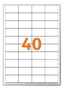 A4 Indirizzo stampante ufficio etichette bianche 40 per foglio 100 fogli
