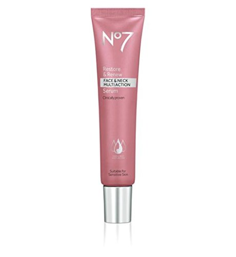 No7 Restore and Renew Face and Neck Multi Action Serum 1.69 fl oz (Best Face Firming Products)