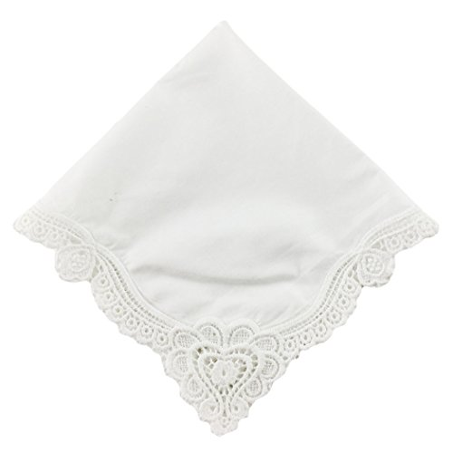 - OWM Handkerchief Cotton Bridal Wedding Crochet Lace Handkerchief Women