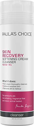 (Paula's Choice SKIN RECOVERY Cream Cleanser, 8 Ounce Bottle for Extra Sensitive, Redness and Rosacea Prone Skin, Normal to Very Dry Facial Skin)