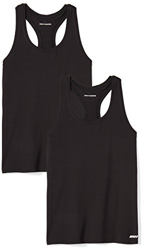 Amazon Essentials Women's 2-Pack Tech Stretch Racerback Tank Top, Black, X-Large